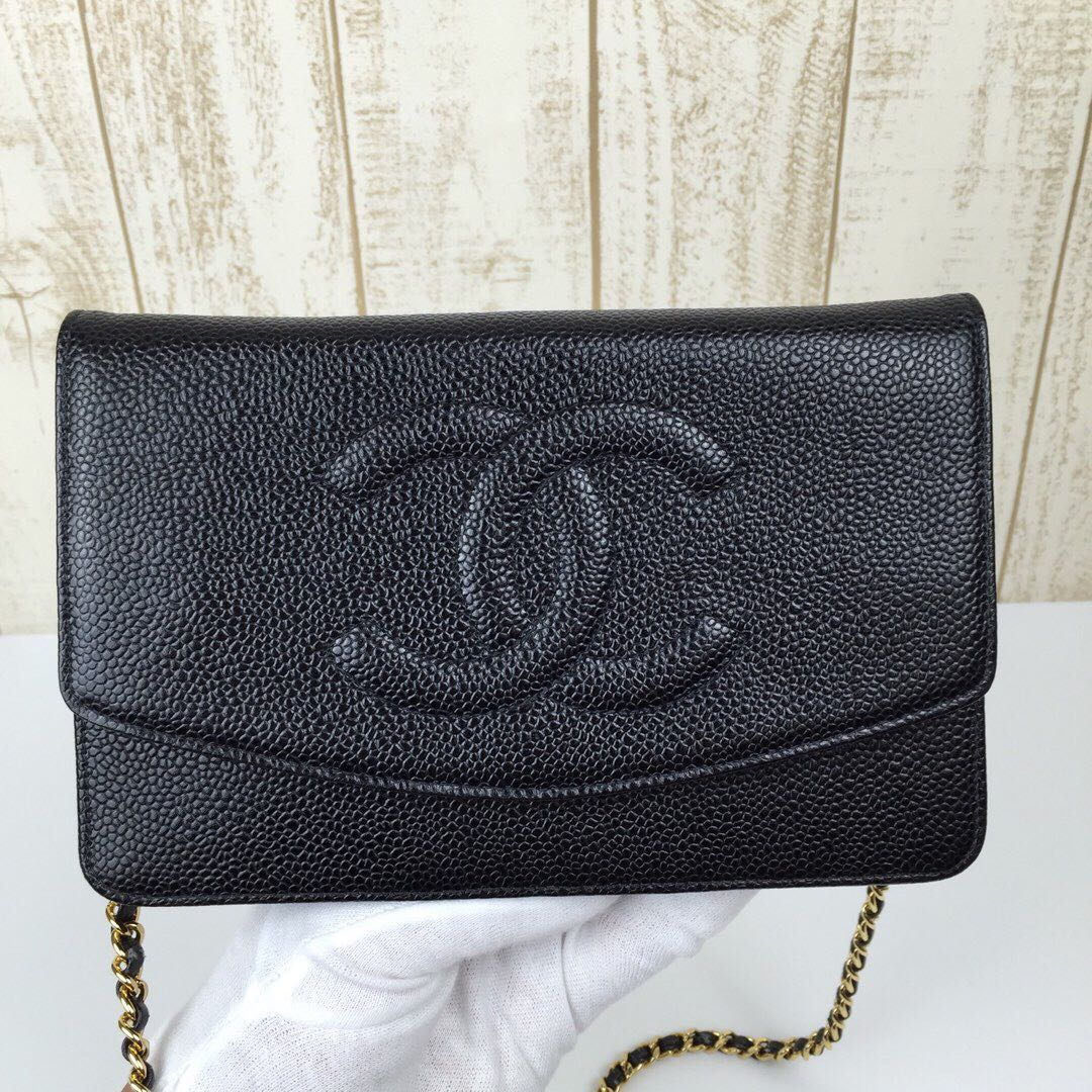 6b1b63212db4 Chanel Caviar Sling Bag WOC, Luxury, Bags   Wallets, Handbags on Carousell