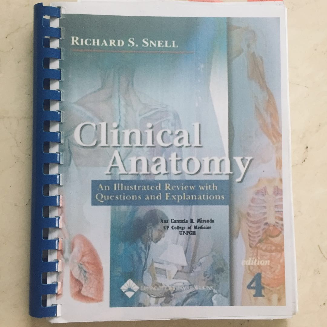 Clinical Anatomy Reviewer By Snell 4th Ed Recopy Textbooks On