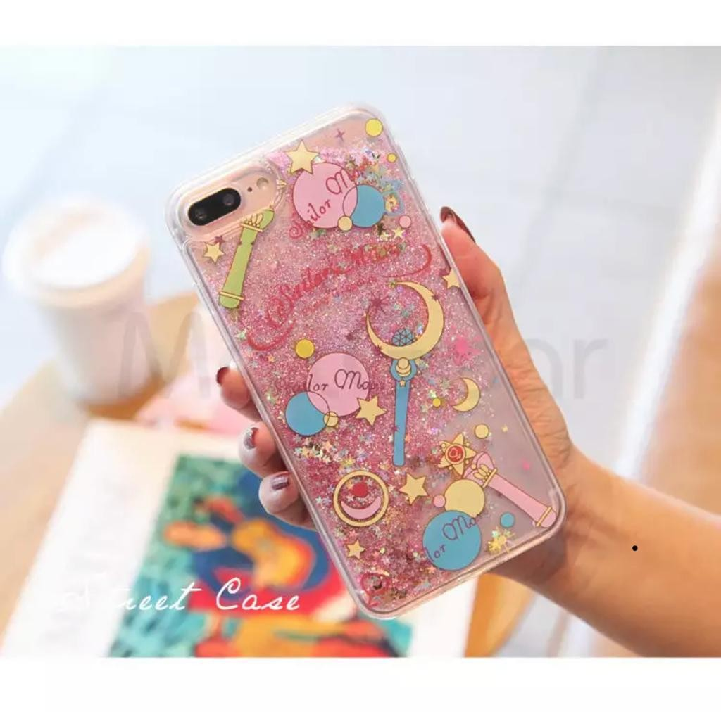 official photos 788df f364b cute sailor moon glitter iphone case
