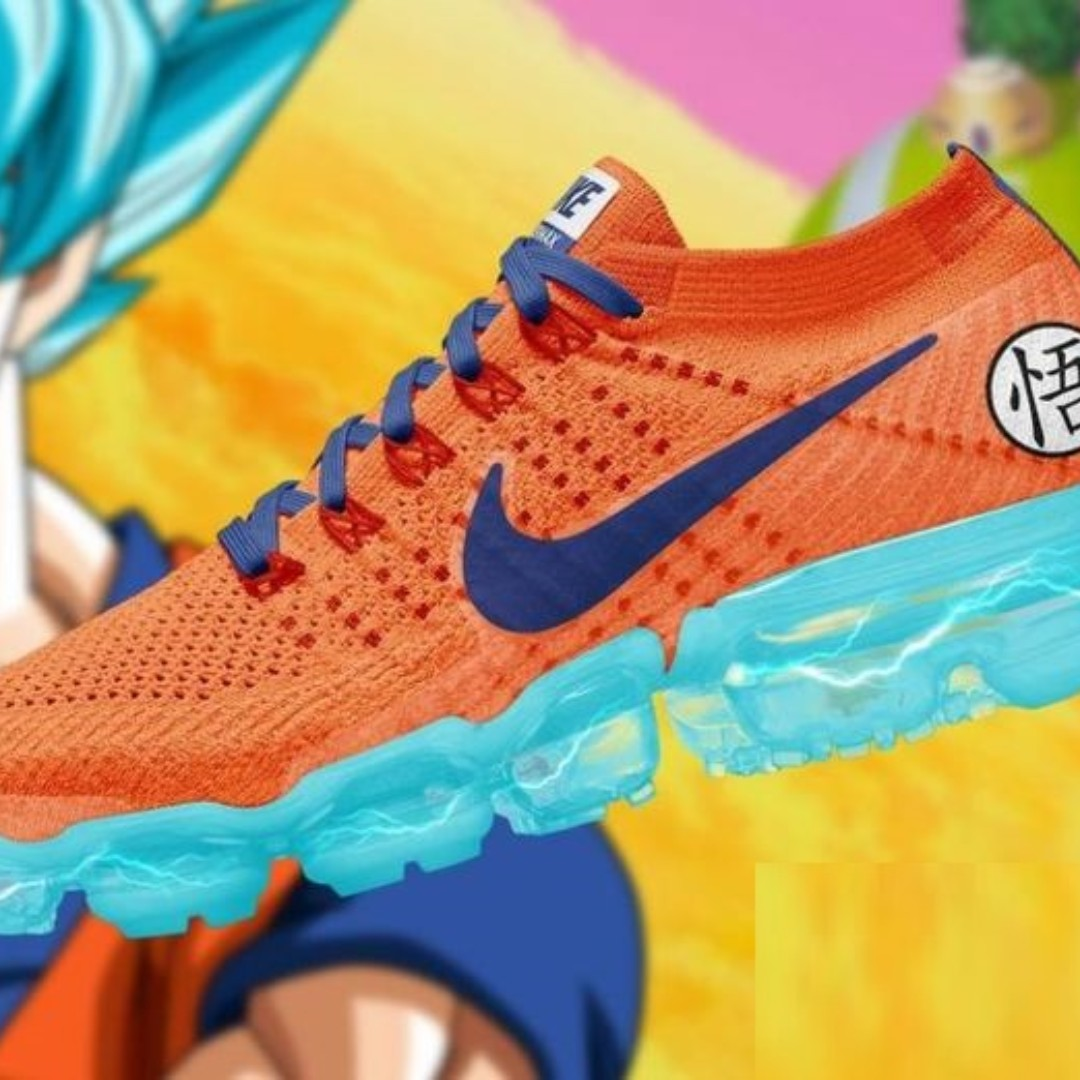 500e953f536 Dragon Ball Z X Nike Air VaporMax Flyknit 2.0  OrangeNavyBlue ...