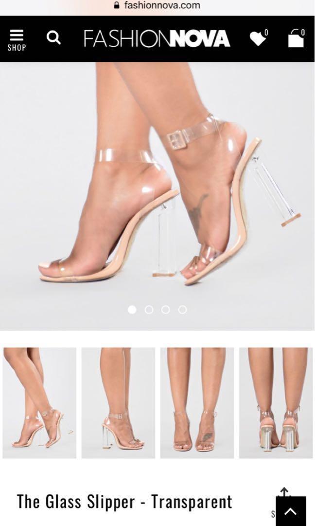 2eb2f30c3d1 FASHION NOVA GLASS HEELS, Women's Fashion, Shoes, Heels on Carousell