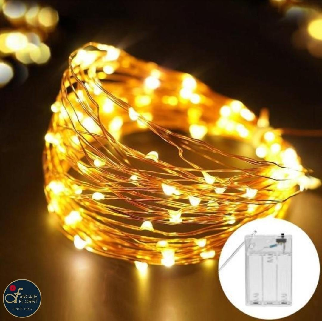 Flowers Decoration Copper Wire Led