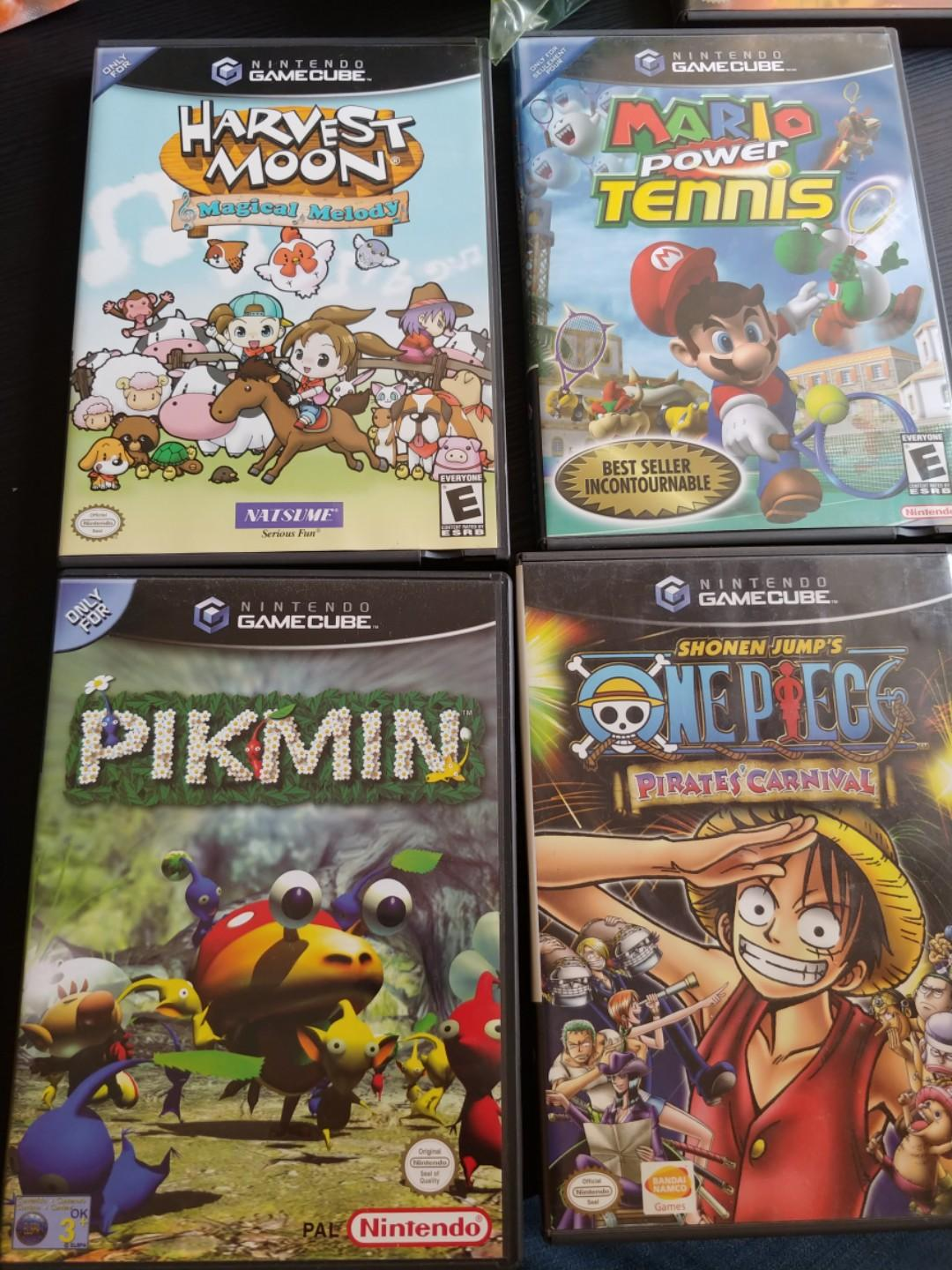 Gamecube Games Mario Tennis One Piece Pikmin Video Gaming Video Games On Carousell