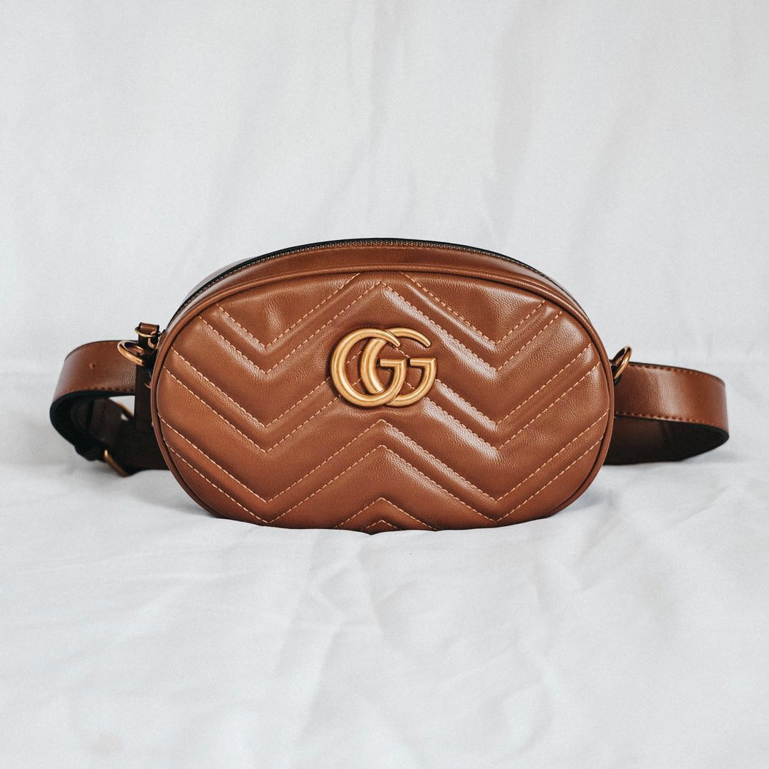 a86218595 Gucci Inspired Belt Bag, Women's Fashion, Bags & Wallets on Carousell