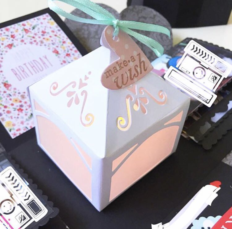 Happy Birthday Explosion Box Card With Lighthouse Design Craft