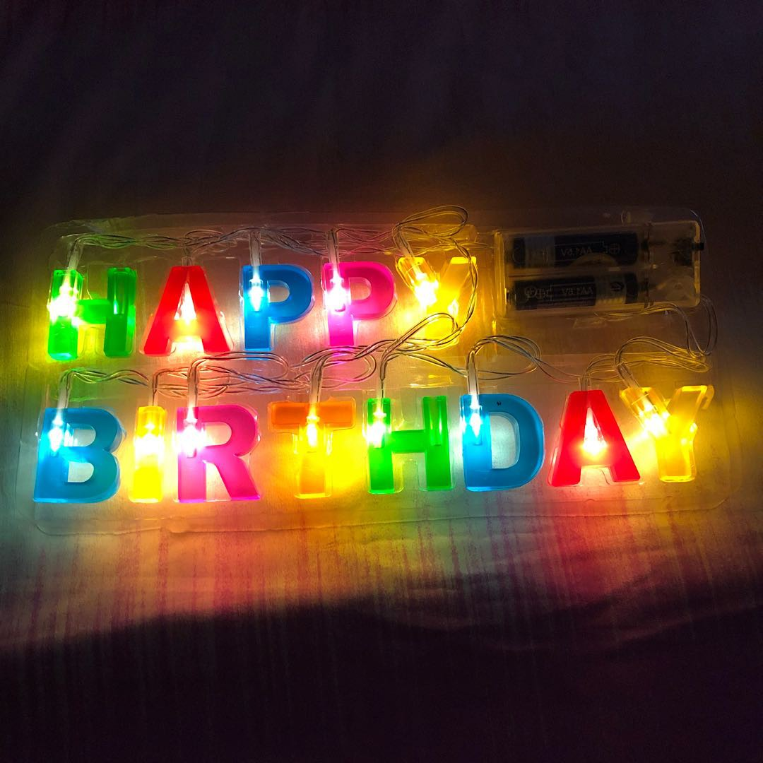 Happy Birthdy LED Fair Lights Furniture Home Decor Lighting