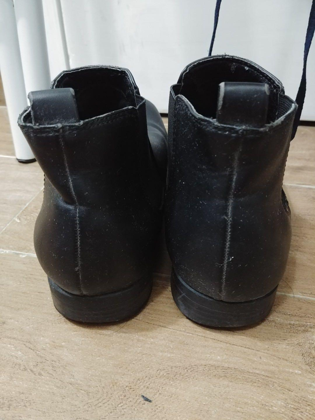 H&M Leather Chelsea Boots Size 42