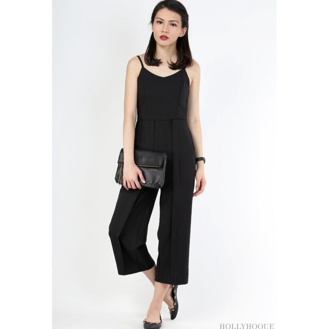 f807796a0ac HollyHoque Quince Flap Jumpsuit Black