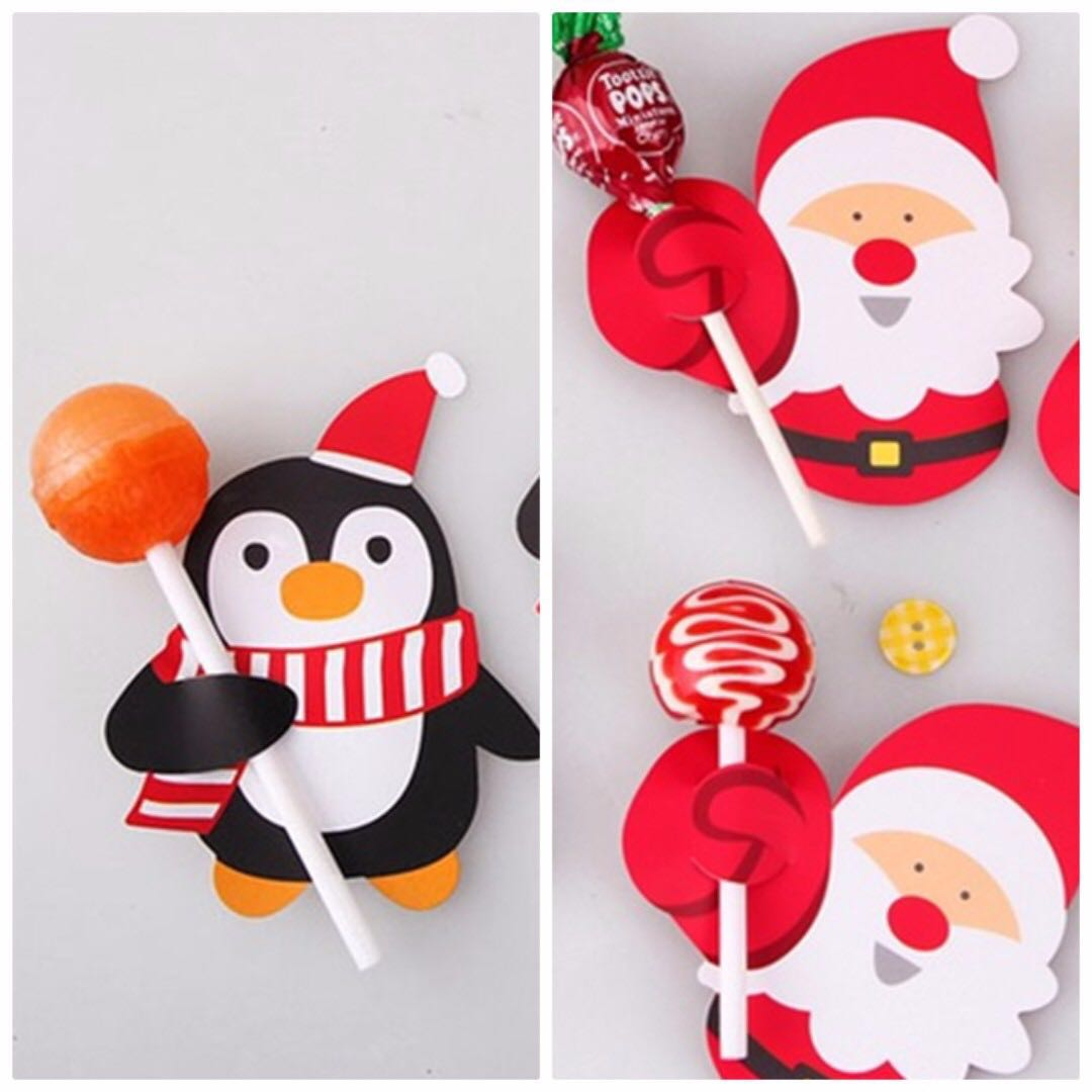 KidS Christmas party candy lollipop decoration table gift