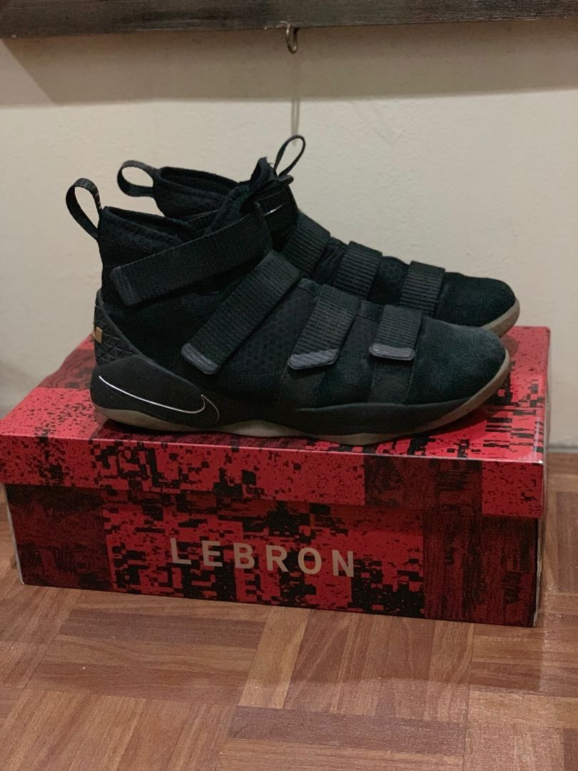 43763e78ca Lebron Soldier 11 Size 11 Black suede gum sole