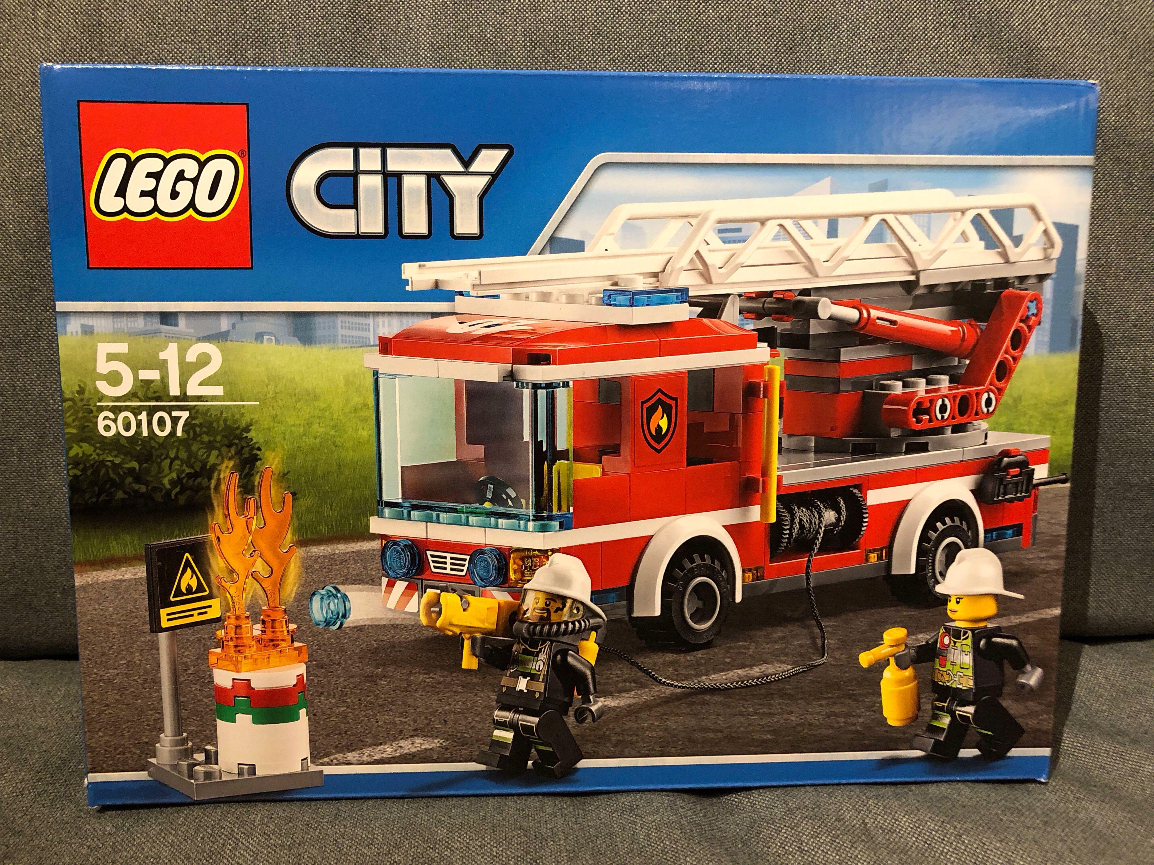 Lego City 60107 Fire Ladder Truck Toys Games Bricks Figurines