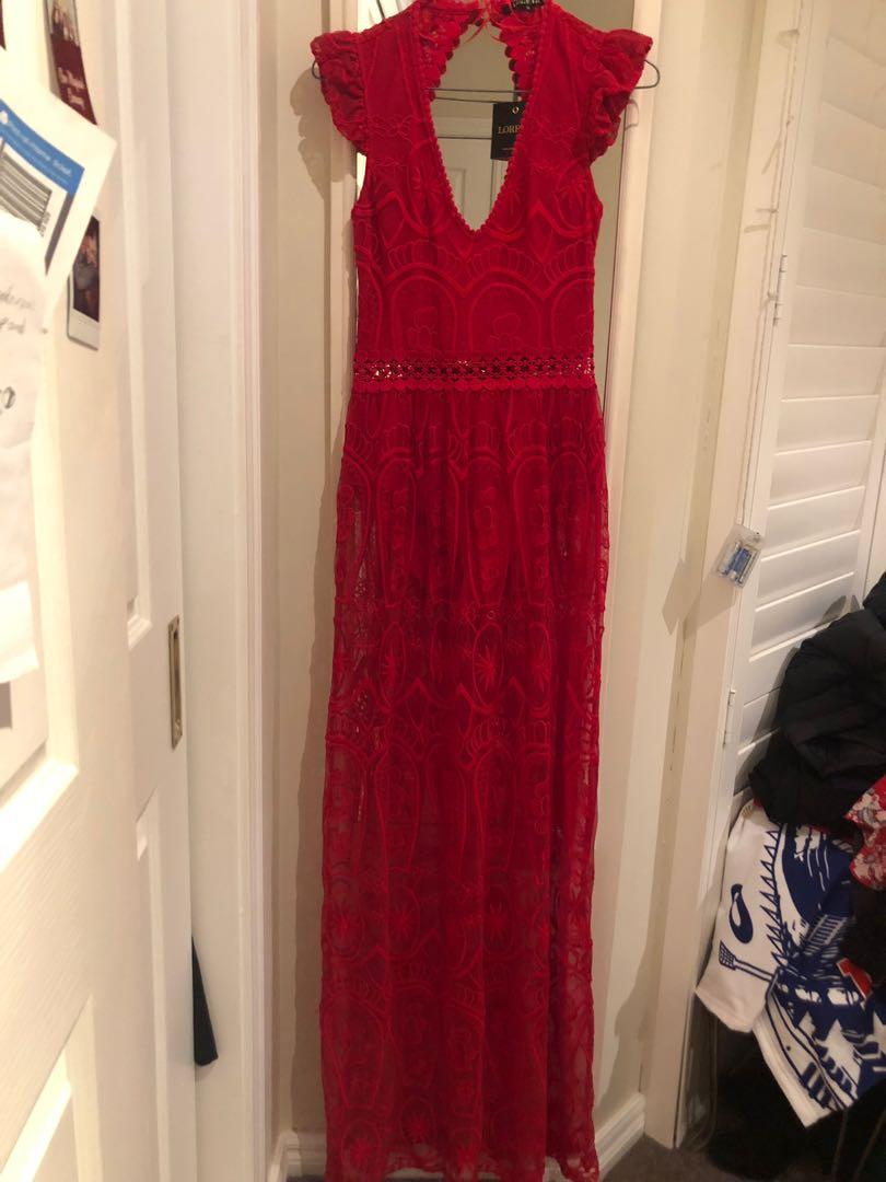 Loretta Red Adele Maxi Dress