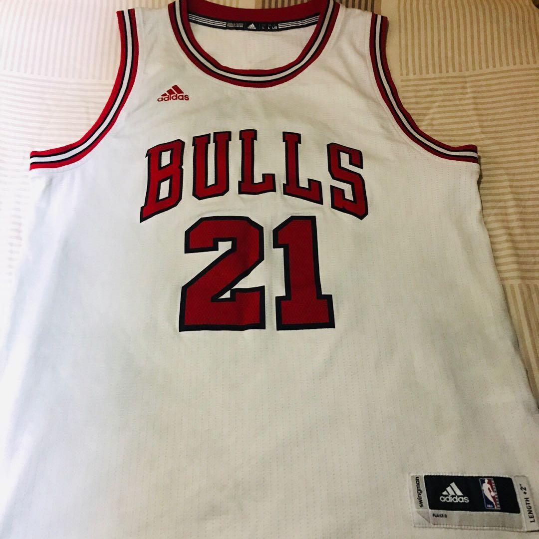 new styles 5d2cc 3a21c NBA Jimmy Butler Chicago Bulls Jersey Adidas L size