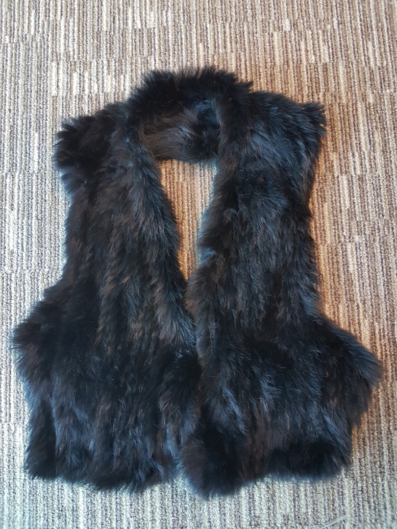 145a83e5e080 New Black Faux Fur Vest, Women's Fashion, Clothes, Outerwear on ...