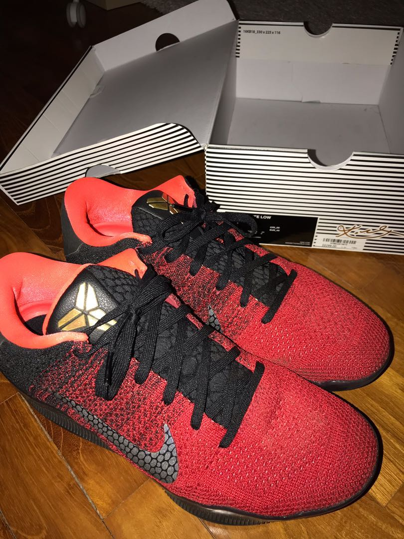 premium selection db7fb a018c Nike Kobe 11 Low Achilles Heel Red US 11, Sports, Sports Apparel on ...
