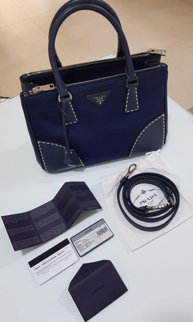 2a288db3639a Prada TESSUTO + SAFFIAN, Luxury, Bags & Wallets, Handbags on Carousell