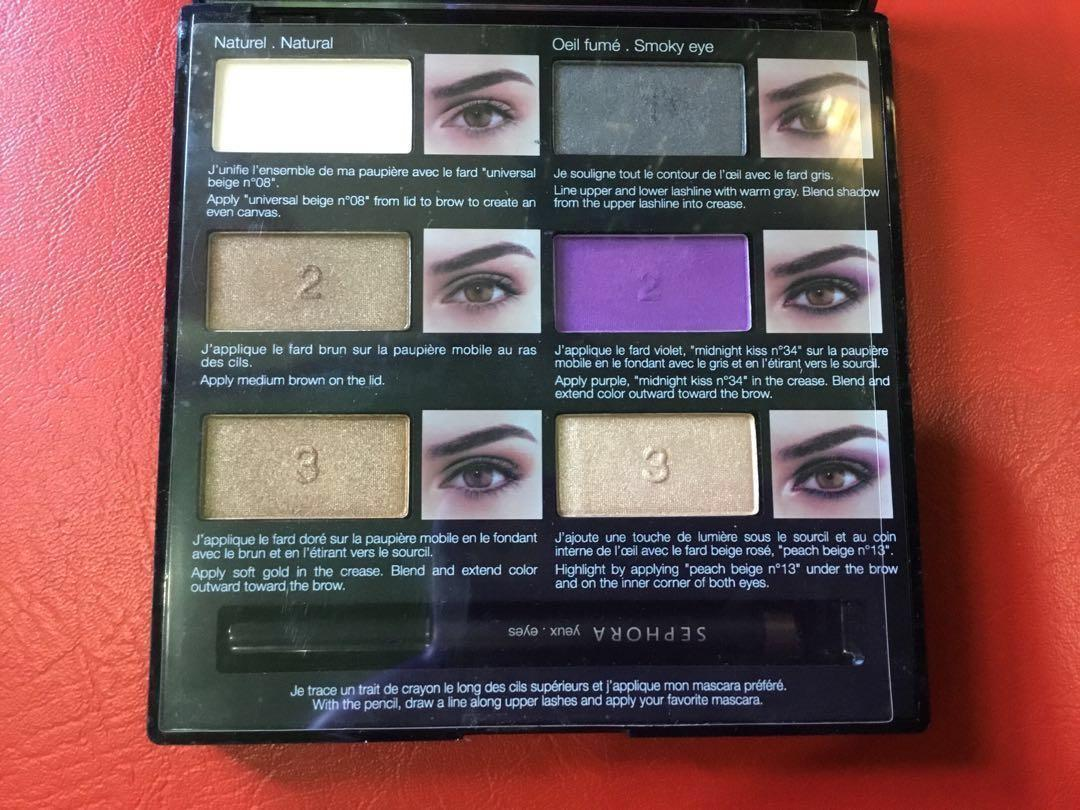 f9d26a26f10c Sephora eyeshadow pallete with eye liner on Carousell