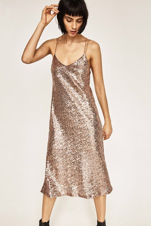 25e926005a Sequin Dress from ZARA, Women's Fashion, Clothes, Dresses & Skirts ...