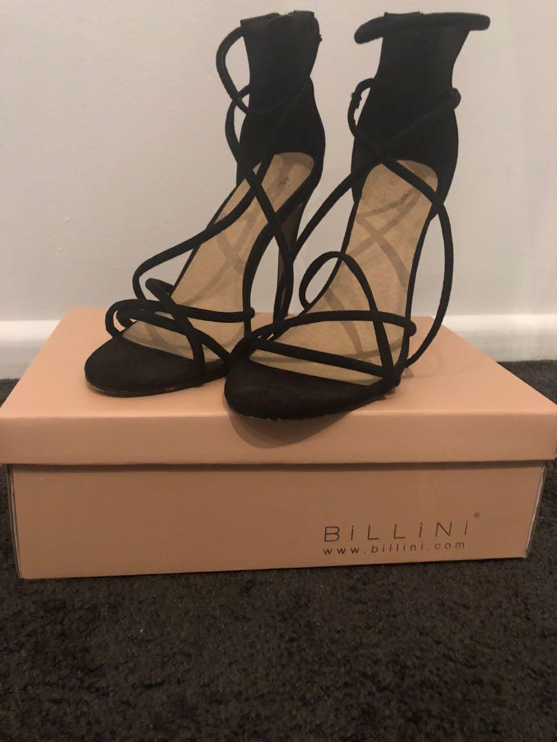 Showpo x Billini Suede Black Heels