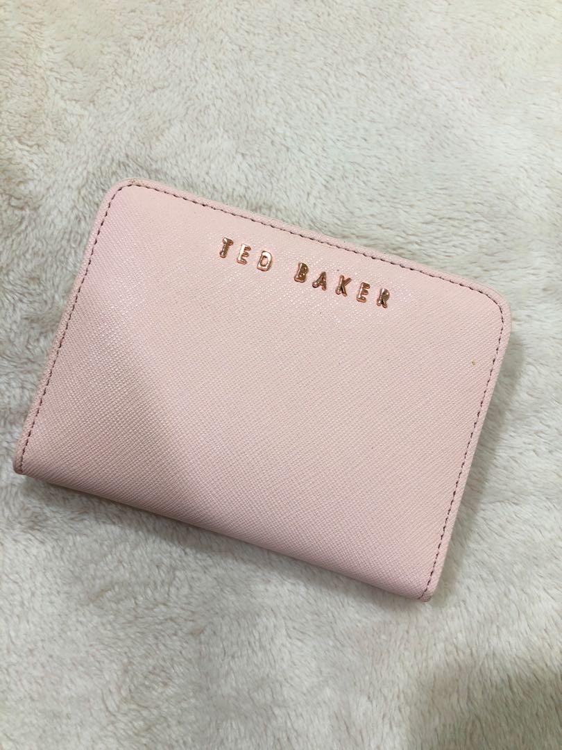cabb1023c4 Ted Baker Xhatch Colour Block Leather Purse, Fesyen Wanita, Beg dan ...