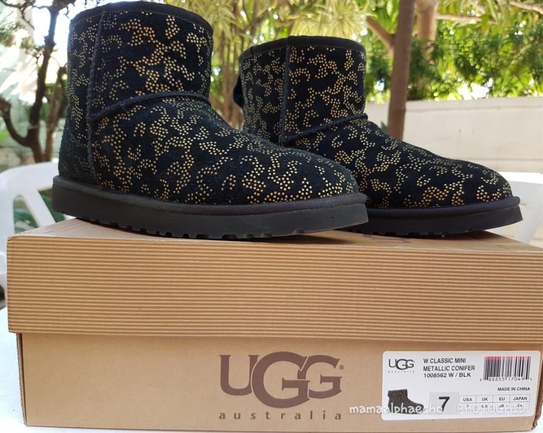 8df5278cb63 Used Once: Ugg Women's Classic Mini Metallic Conifer on Carousell