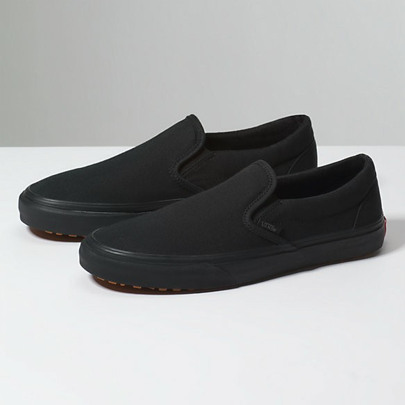 5100b96ab55a Vans Original All Black Sneakers Slip On Shoes