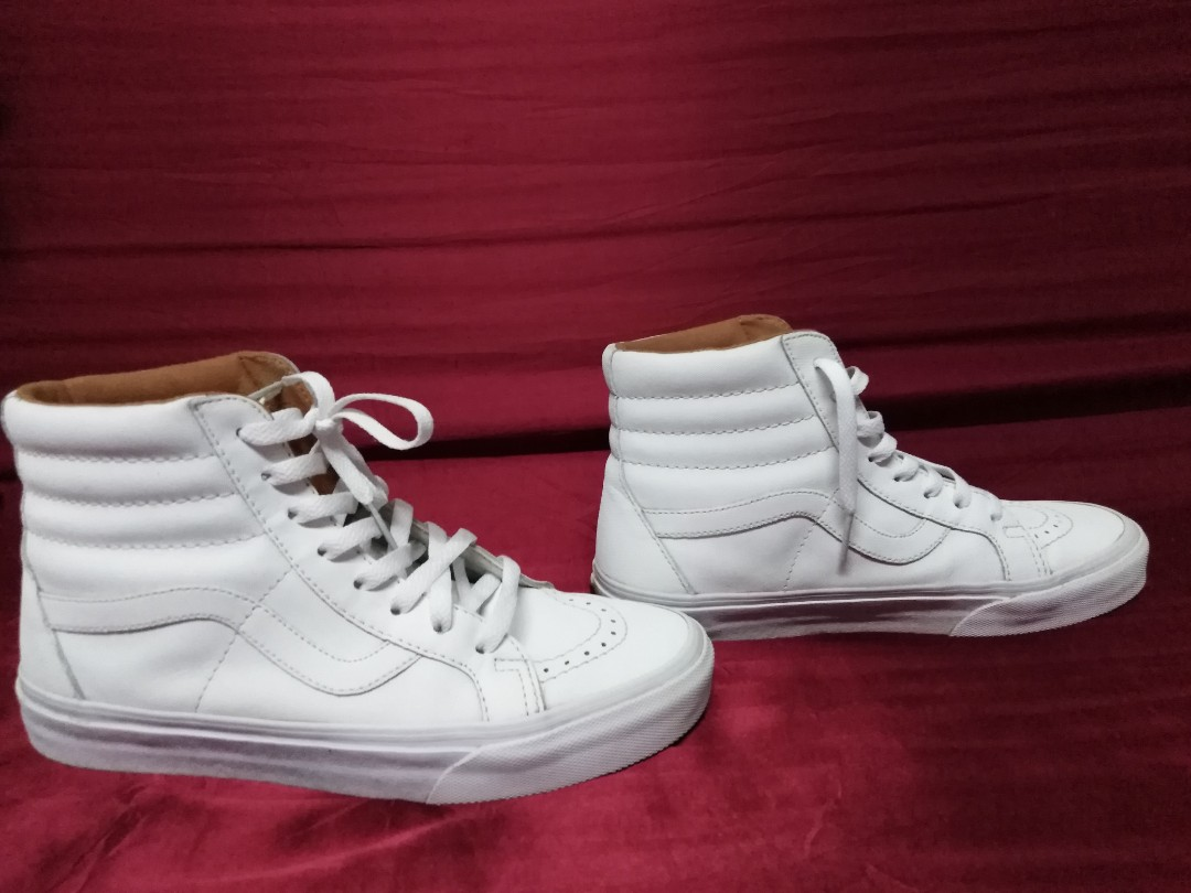 c918a0f4f8 Vans sk8 hi all white shoe XTUFF LIMITED EDITION 2014 RELEASE SIZE ...