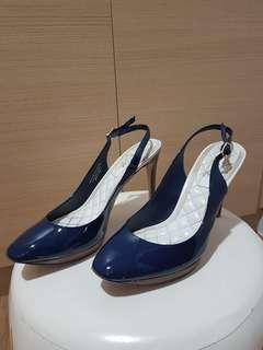 Pedro Woman Pointed High heeled Shoes in Navy