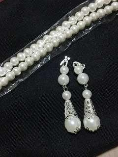 Cheap 😊Pearl Earring with Necklace