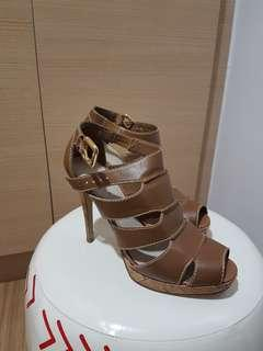 Charles & Keith Beige High heeled shoes
