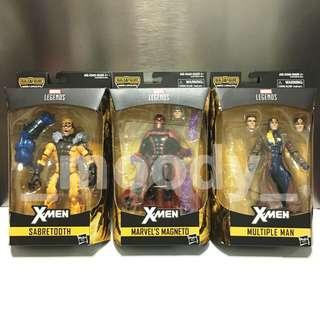 Marvel Legends X-Men Sabretooth, Magneto, Multiple Man