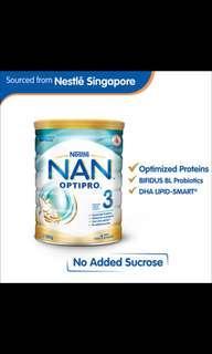 (SG Source) Nestle nan optipro 3 800gram