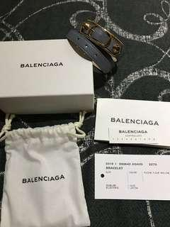 Authentic Brand New Balenciaga Gris Chartreux Double Tour Bracelet
