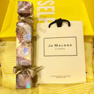 Jo Malone 2018聖誕拉炮 紅玫瑰古龍水 英國橡樹與紅醋栗 香水 乳霜 聖誕限定