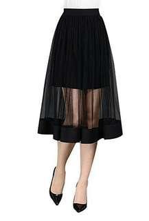 FREE ONGKIR midi skirt rok tutu import hitam