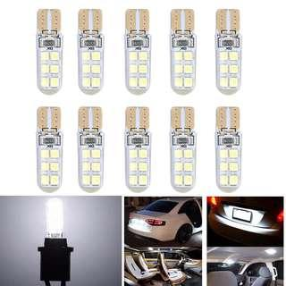 T10 12SMD White Super Bright Silicone LED Canbus Error Protection Built