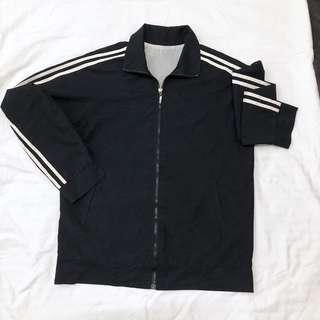 Adidas inspired jacket black stripe jacket
