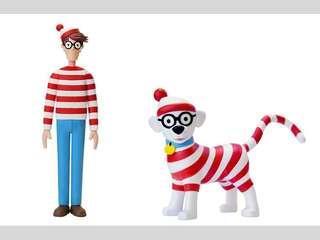 """[絕版]Where's Wally Vinyl Figure / """"Happiness Hunt """" Where's Wally ? Art Exhibition(另有黑色特別版Wally)"""