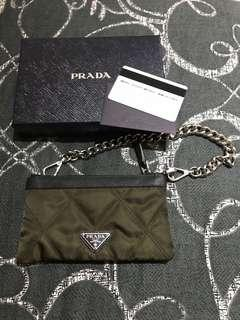 Authentic Brand New Runway Limited Edition Prada Clutch with Chains
