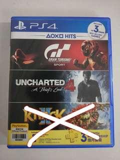 Uncharted 4 + gt sport