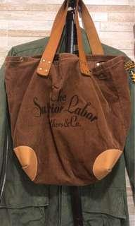Superior labour tote bag made in japan corduroy leather vintage