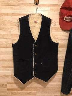 Vintage levis Big E sherpa vest made in usa rrl lvc