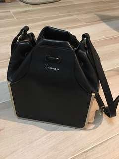 CARVEN metal bucket bag Black Color超低價