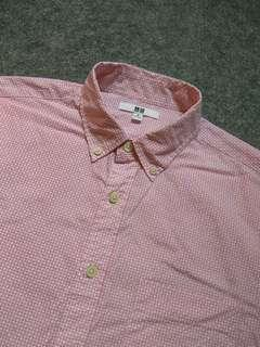 UNIQLO Button-down Print Cotton Shirt Short Sleeve Size M