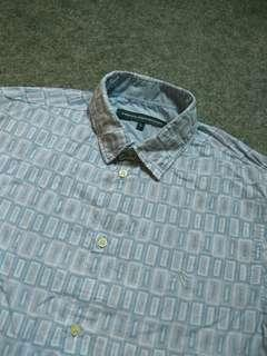 FRENCH CONNECTION Print Cotton Shirt Short Sleeve