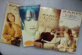 (包郵) 4隻 Zard 日版 3吋 8cm 單曲CD