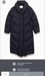 Aritzia Wilfred Meribel long puffer coat