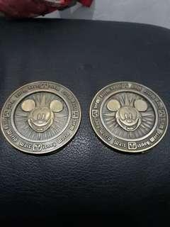 Pajangan Medali Mickey Asli USA