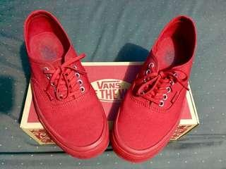 REPRICED! Vans Authentic Primary Mono (Red)