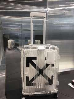 RIMOWA off white luggage
